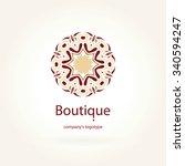 beautiful circular logos. logo... | Shutterstock .eps vector #340594247