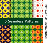 seamless pattern with the image ... | Shutterstock .eps vector #340596233