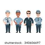 security guard. security men in ... | Shutterstock .eps vector #340606697