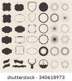 collection of vector sunburst | Shutterstock .eps vector #340618973