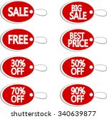 tag sale and discount labels | Shutterstock .eps vector #340639877