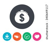 wallet dollar sign icon. cash... | Shutterstock . vector #340649117
