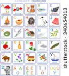 french alphabet with pictures | Shutterstock .eps vector #340654013