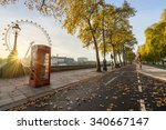 Red Telephone Box And Autumn...