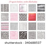 collection of twenty squares... | Shutterstock .eps vector #340688537