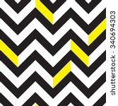 Chevron black and white seamless pattern | Shutterstock vector #340694303