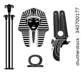 set of egyptian ancient symbol  ...
