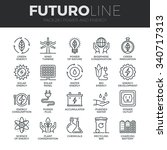 modern thin line icons set of... | Shutterstock .eps vector #340717313