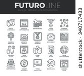 modern thin line icons set of... | Shutterstock .eps vector #340717433