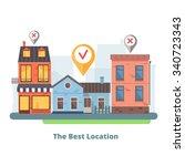 vector illustration of real... | Shutterstock .eps vector #340723343