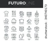 modern thin line icons set of... | Shutterstock .eps vector #340740173