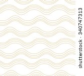seamless wave pattern  waves... | Shutterstock .eps vector #340747313