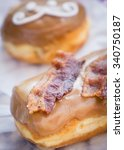 Bacon Maple Frosted Donut With...