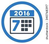 2016 week binder vector icon.... | Shutterstock .eps vector #340768397