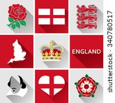 england flat icon set. set of... | Shutterstock .eps vector #340780517