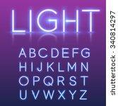 neon alphabet | Shutterstock .eps vector #340814297