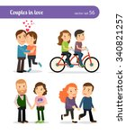 romantic couples being together ... | Shutterstock .eps vector #340821257