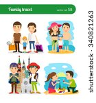 family travel people. rest on... | Shutterstock .eps vector #340821263