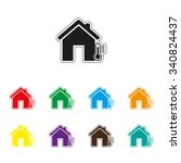house temperature   color... | Shutterstock .eps vector #340824437