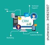 crm customer relationship... | Shutterstock .eps vector #340825007