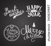winter holidays calligraphy... | Shutterstock .eps vector #340829897