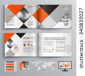 geometric business brochure... | Shutterstock .eps vector #340835027