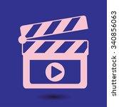 film maker clapper board  icon. ... | Shutterstock .eps vector #340856063