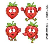 Strawberry Cartoon Character...