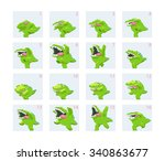 crocodile. enemy animation | Shutterstock .eps vector #340863677
