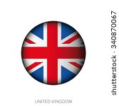 uk flag button vector | Shutterstock .eps vector #340870067