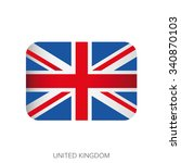 uk flag button vector | Shutterstock .eps vector #340870103