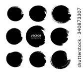 black circles big set from... | Shutterstock .eps vector #340873307