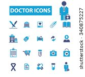 doctor  clinic  icons  signs... | Shutterstock .eps vector #340875227