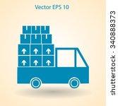 flat truck icon. vector | Shutterstock .eps vector #340888373