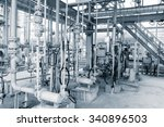 structure of oil refinery plant  | Shutterstock . vector #340896503