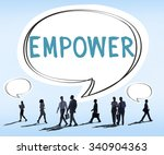 empower authority permission... | Shutterstock . vector #340904363