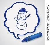 snowman doodle | Shutterstock . vector #340913297