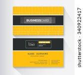 modern simple business card... | Shutterstock .eps vector #340922417