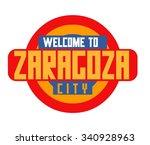 zaragoza in spain is beautiful... | Shutterstock .eps vector #340928963