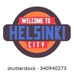 helsinki in finland is... | Shutterstock .eps vector #340940273