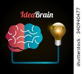 big ideas graphic design with... | Shutterstock .eps vector #340940477