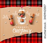 christmas characters  santa... | Shutterstock .eps vector #340942007