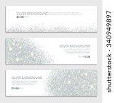 silver sparkles on white... | Shutterstock .eps vector #340949897