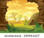 Prehistoric Illustration With...