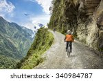 bike adventure travel photo.... | Shutterstock . vector #340984787