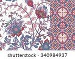 seamless floral patterns set....