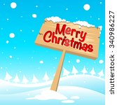 merry christmas background with ... | Shutterstock .eps vector #340986227