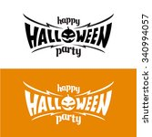 happy halloween party title... | Shutterstock . vector #340994057