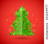 creative xmas tree made by... | Shutterstock .eps vector #341019977