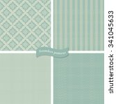 collection of 4 seamless tweed... | Shutterstock .eps vector #341045633